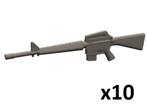 1/24 scale M16A1 rifle in Smoothest Fine Detail Plastic