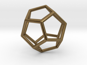 Dodecahedron Pendant in Natural Bronze