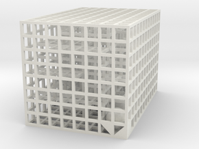 Maze 09, 6x6x4 in White Natural Versatile Plastic: Medium