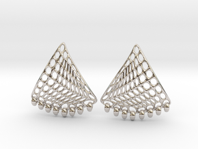 Baumann Earrings in Rhodium Plated Brass