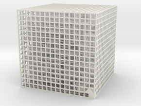 Maze 06, 8x8x8 in White Natural Versatile Plastic: Medium