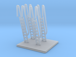 1/125 Scale Ship Vertical Ladders in Smooth Fine Detail Plastic