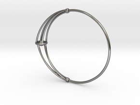 SMK Melancholy Bangle with Rolling Ball in Premium Silver