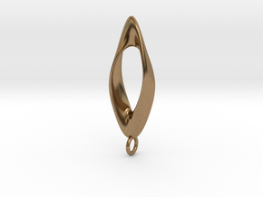 Obius pendant with loop in Natural Brass