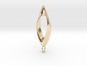 Obius pendant with loop in 14K Yellow Gold
