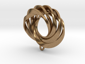 Coradeciem pendant with loop in Natural Brass