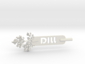 Dill Plant Stake in White Natural Versatile Plastic