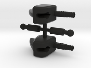 Manta Ray's Feetsies (Version B sprued) in Black Natural Versatile Plastic