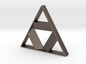 Tri-Force Inspired Bottle Opener in Polished Bronzed Silver Steel