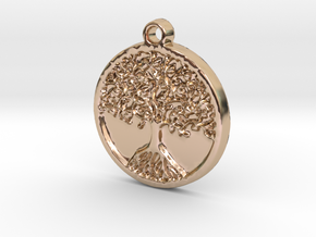 Tree of Life (Pendant) in 14k Rose Gold Plated Brass