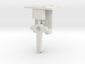 HO LQ Signal Mech - 1 Arm - Brass Post in White Natural Versatile Plastic
