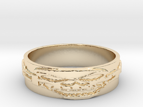Skull Ring Size 11 in 14K Yellow Gold