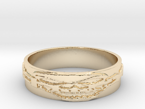Skull Ring Size 14 in 14K Yellow Gold