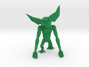 LowPoly Gremlin inspired Phone Holder in Green Processed Versatile Plastic