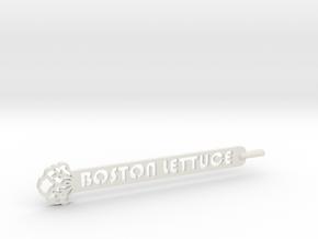 Boston Lettuce Plant Stake in White Natural Versatile Plastic