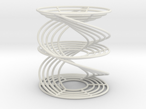 Simple Pendulum Time Helices in White Natural Versatile Plastic