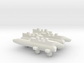 Triple Missile Pylon x4 in White Natural Versatile Plastic