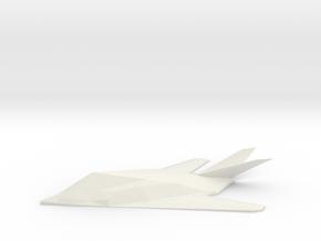 F117  in White Natural Versatile Plastic