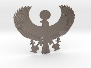 Egyptian Symbol in Polished Bronzed Silver Steel