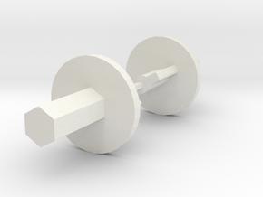 terraPin OSKAR Winder in White Natural Versatile Plastic