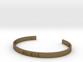 Believe Engrave Bracelet Sizes S-L in Polished Bronze: Small