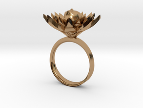 Lotus Ring in Polished Brass
