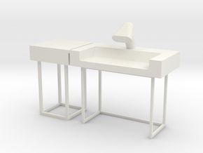 Main Mission Desk w LH Wing (Space: 1999) 1/30 in White Natural Versatile Plastic