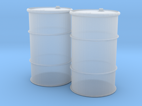 HO 55 Gallon Drum set of 2 in Smooth Fine Detail Plastic