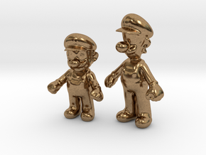 1/24 Mario Brothers in Natural Brass