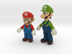 1/24 Mario Brothers in Full Color Sandstone