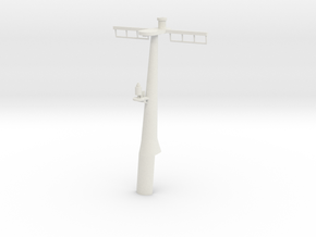 1/96 scale Hamilton Mast Rear - Pre-Framm in White Natural Versatile Plastic