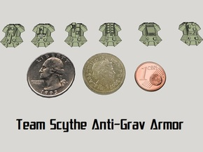 """Team Scythe"" 3mm Anti-Grav Armor Sample Pack in Smooth Fine Detail Plastic"