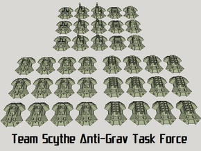"""Team Scythe"" 3mm Anti-Grav Task Force (39pcs) in Smooth Fine Detail Plastic"