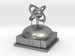 Lithium Atomamodel in Natural Silver