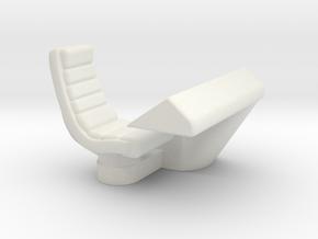 Console Type 18 Left Hand (Star Trek) in White Natural Versatile Plastic: 1:30