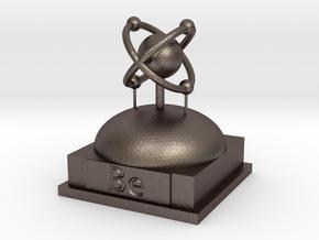 Beryllium Atomamodel in Polished Bronzed Silver Steel