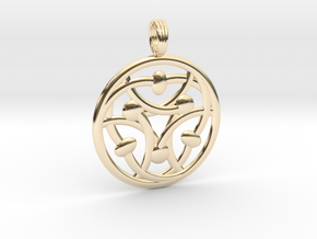 MYSTIC TELEPATHY in 14k Gold Plated Brass