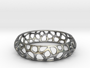Bracelet Voronoy  in Polished Silver