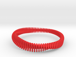 Bracelet Sections in Red Processed Versatile Plastic