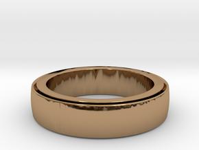 Ring Spinner  in Interlocking Polished Brass: 6 / 51.5