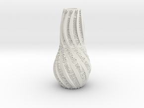 VASE PERSONNALISABLE in White Strong & Flexible