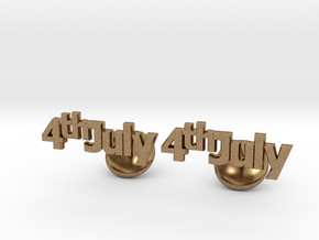 4th Of July Cufflinks in Natural Brass