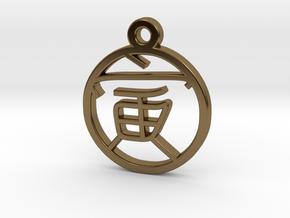 Zodiac Eastern - Tiger Charm in Polished Bronze