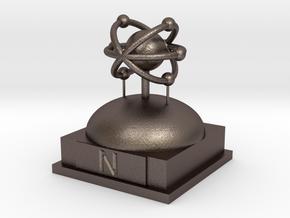 Nitrogen Atomamodel in Polished Bronzed Silver Steel
