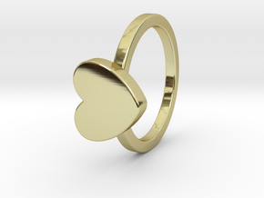 Heart Ring Size 4 in 18k Gold Plated Brass