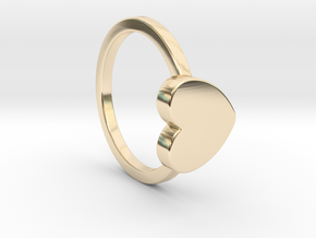 Heart Ring Size 5 in 14K Yellow Gold
