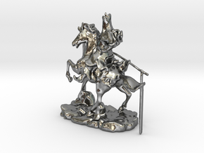 Chinese Knight 2 in Polished Silver