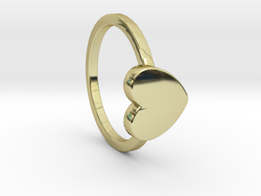 Heart Ring Size 6.5 in 18k Gold Plated Brass