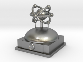 Oxygen Atomamodel in Natural Silver