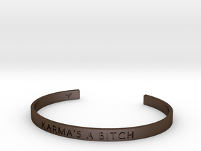 Karma's A Bitch Bracelet S-L in Polished Bronze Steel: Small